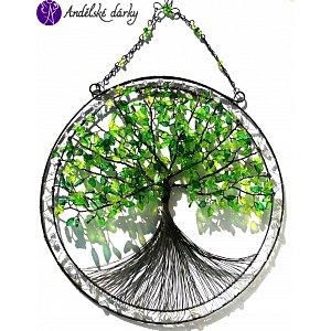 Drátovaný strom života - srdeční příval energie  20 x 35cm