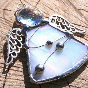 Andělská vitráž Tiffany-hypoalergenní - Archanděl Gabriel