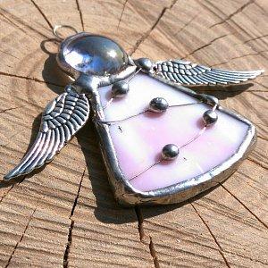 Andělská vitráž Tiffany-hypoalergenní - Archanděl CHamuel