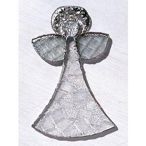 Andělská vitráž Tiffany - posel světla - 20 x 21cm