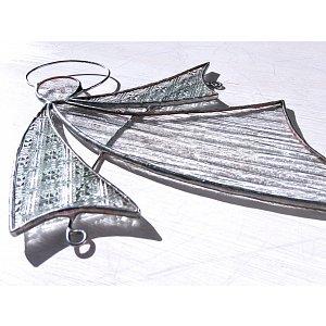 Andělská vitráž Tiffany - letím k vám- 24 x 19cm