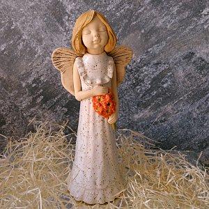 Anděl keramický - snící dětská duše 26cm