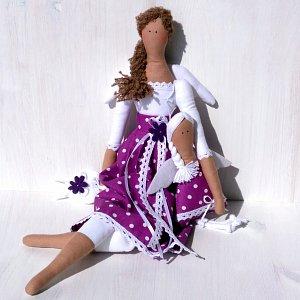 Andělka látková - víla fialka 45cm výška