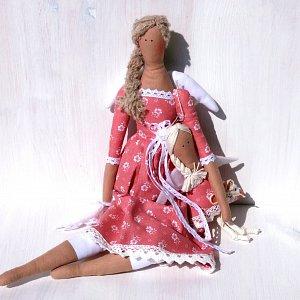 Andělka látková - červánkový soumrak 45cm výška
