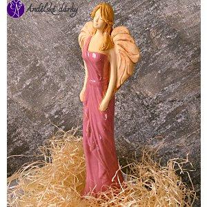 Anděl z keramiky - vánek starých časů 37cm