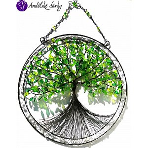 Drátovaný strom života - srdeční příval energie  31,5x44cm