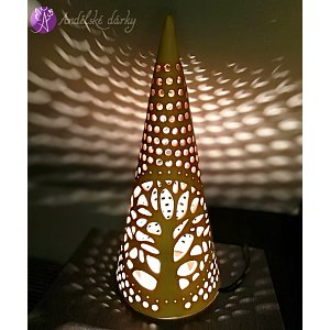 Lucerna keramická - kužel - strom života 50cm
