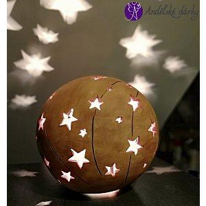 Lucerna keramická koule vesmírná hvězda 25 cm