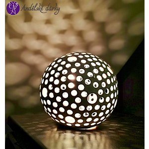 Lucerna keramická koule světelný roj 20cm