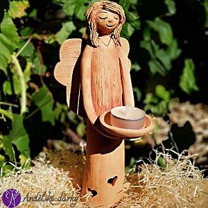 Andělský svícen duše anděla 28cm