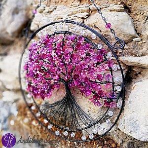 Drátovaný strom života - spirituální napojení 20x 31cm