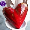 Srdce keramické z lásky 6,5 x 6,5 cm