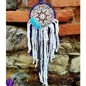 Lapač snů krajkový - moudrost andělů 16cm x 54,5cm