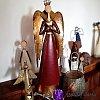 Anděl strážný rubínový - mega velikost 75cm