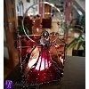 Lucerna Tiffany vitrážová - srdečné paprsky 16,5 x 9,5cm