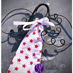 Drátěná andělka - šťastná hvězda 30 x 20 cm