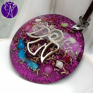 Orgonit - medailon andělský ochranný amulet 3,5cm
