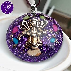 Orgonit - medailon andělský ochrana před stresem a napětím 3,5cm
