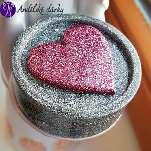 Orgonitová hmatka - srdce na dlani jemnost a laskavost 5,5 x 2 cm