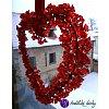 Drátěné srdce - tvoje LÁSKA 23x22cm