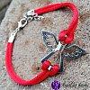 Náramek ochranný s andílkem červený 22cm