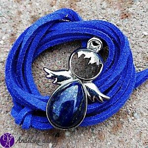 Andílek Lapis lazuli 3,5 x 2,5 cm
