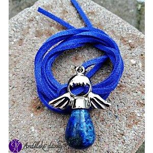 Andílek Lapis lazuli 3,5x2,5cm