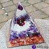Orgonitová pyramida  velká- ametyst a granát  Božská láska 6x7cm