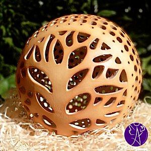 Lucerna keramická koule  - strom života 20cm