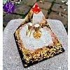 Orgonitová pyramida velká- hojnost a blahobyt  6x6xcm
