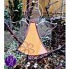 Andělská vitráž - tvořivá vášeň 16 x 10,5 cm