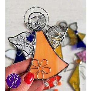 Andělská vitráž - tvořivá vášeň 16x10,5cm