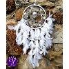 Lapač snů peříčkový - nové začátky s křišťálem 16 x 66cm