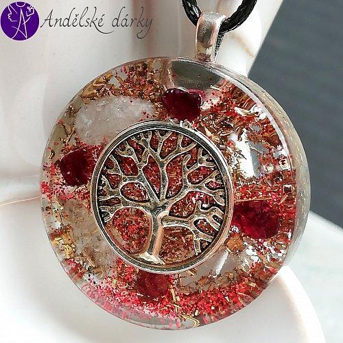 Orgonit strom života - laskavost v srdci 3,5cm