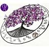 Drátovaný strom života - ametyst s motýlky 42cm