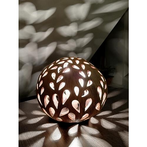 Vánoční lucerna keramická koule vánoční jas10 cm