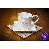 Andělský hrneček s talířkem a prostíráním - keramika 250 ml