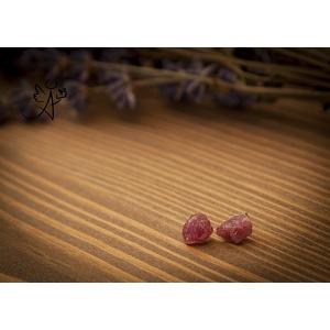 Naušnice růžový turmalín