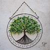 Drátovaný strom života - něžný příval energie  25 x 35cm