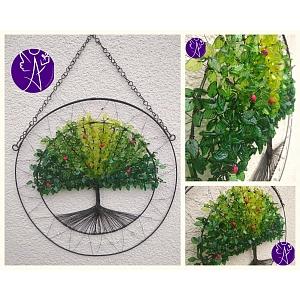 Drátovaný strom života - božský příval energie  39 x 55 cm