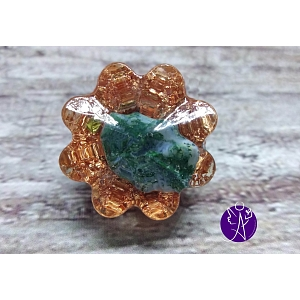 Orgonitová mini kytka – Mechové kapradí 2,5 x 2,5 x 1,5 cm