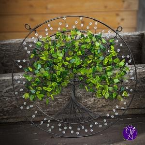 Drátovaný strom života - srdeční příval energie 35 cm