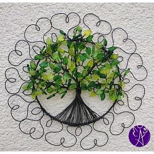 Drátovaný strom života - srdeční energie 25 cm