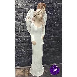 Andělská partnerská soška - štěstí a naděje 38 cm bílá