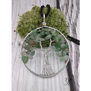 Strom života přívěsek s avanturínem zeleným velký 5 cm
