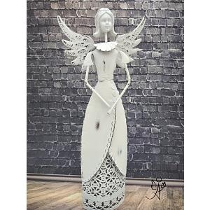 Svícen Andělská křídla 32 cm, kovový