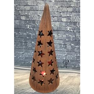 Lucerna keramická - kužel - Hvězdná obloha 20 cm