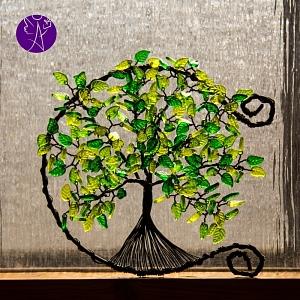 Drátovaný otevřený strom života - srdeční příval energie 22 cm