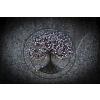 Drátovaný strom života - Šedá růže 44 cm