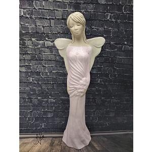 Andělská soška Jemnost 35 cm růžová